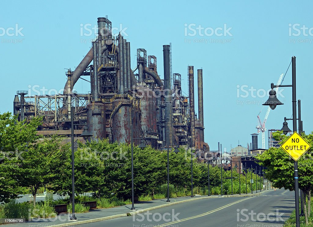 Bethlehem Steel Blast Furnaces USA stock photo