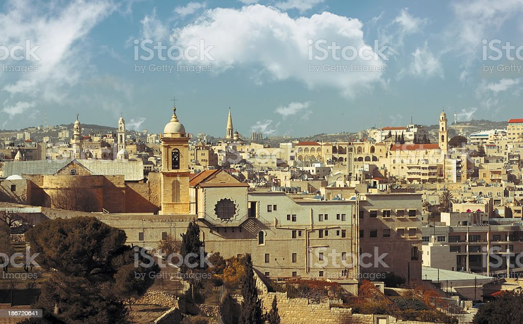 Bethlehem: view of historical part stock photo