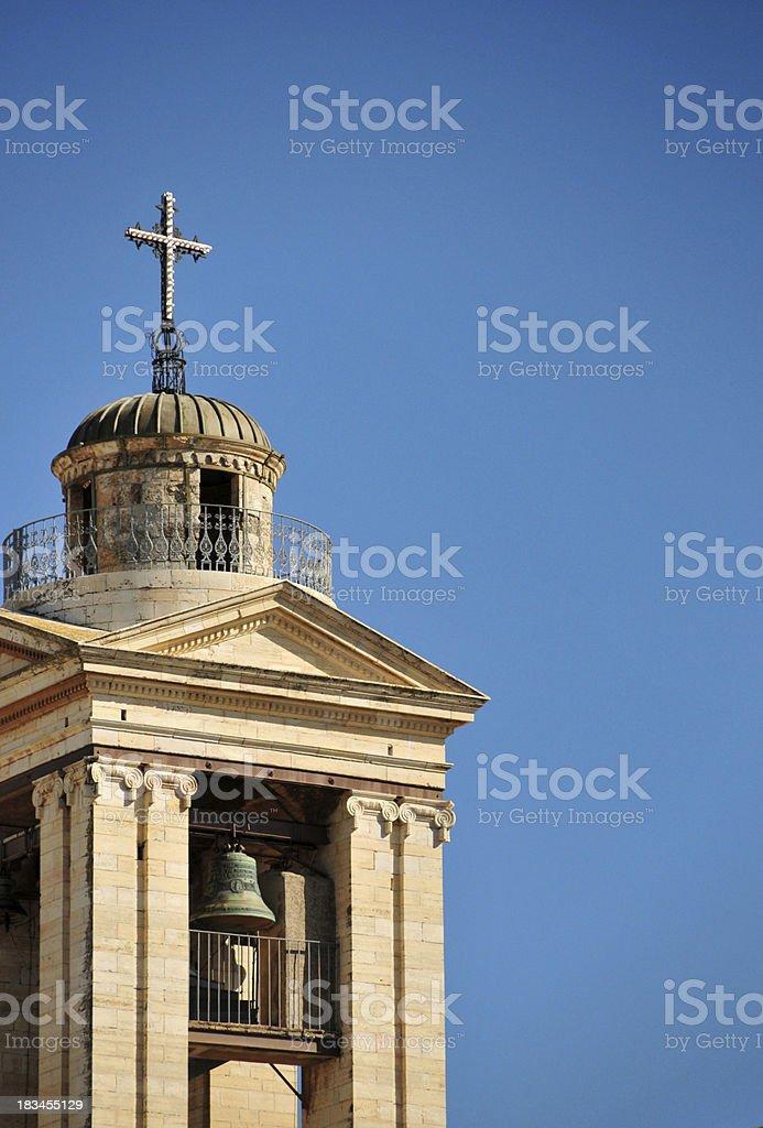 Bethlehem, West Bank, Palestine: Church of the Nativity belfry royalty-free stock photo