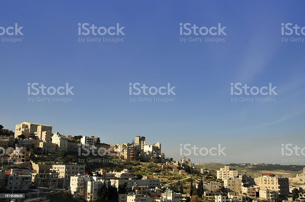 Bethlehem, West Bank, Palestine: skyline royalty-free stock photo
