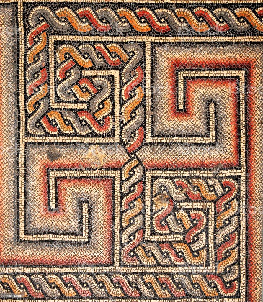 Bethlehem, West Bank: Roman mosaic with symbol, Nativity Church stock photo