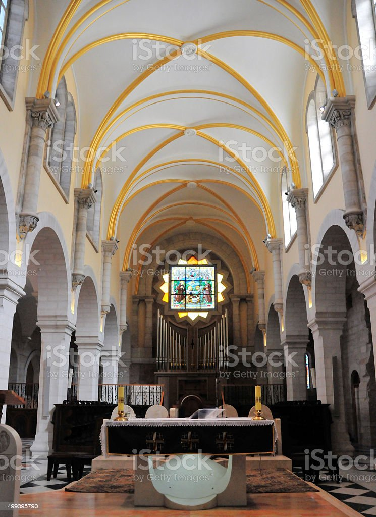 Bethlehem, West Bank: St. Catherine's church stock photo