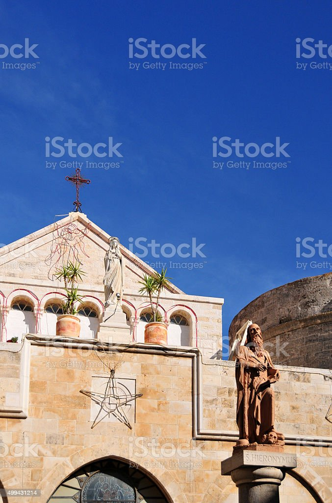 Bethlehem, West Bank: St. Catherine's Roman Catholic church stock photo