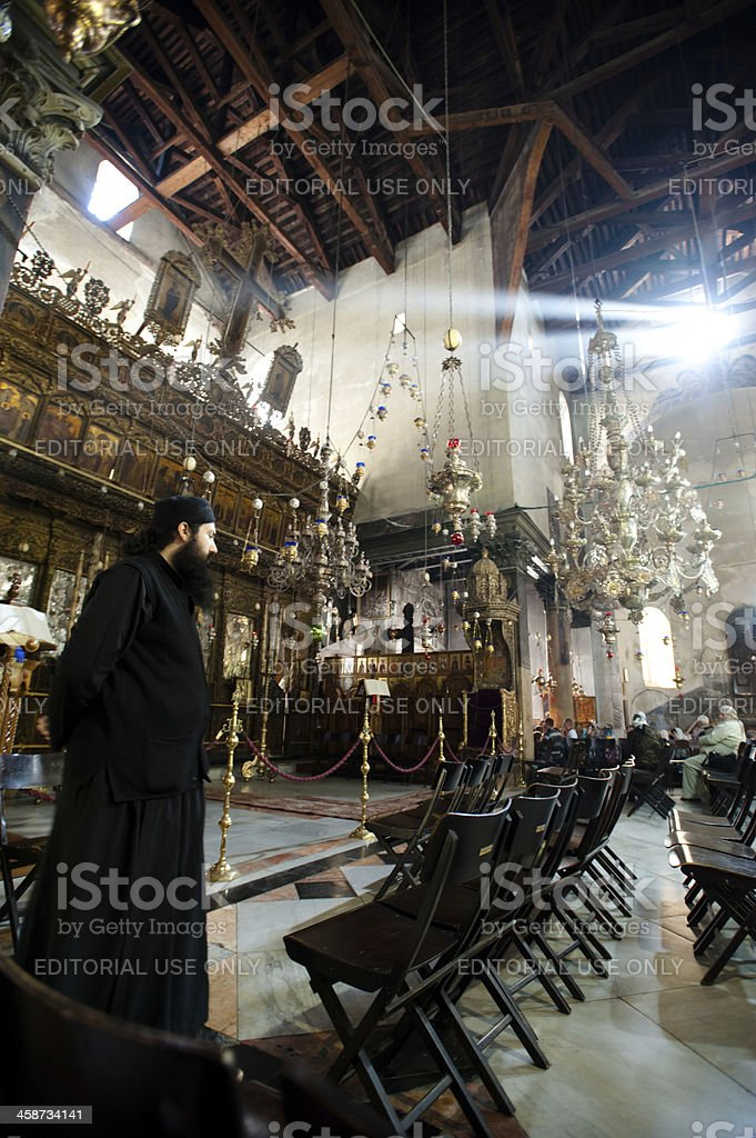 Bethlehem's Church of the Nativity royalty-free stock photo
