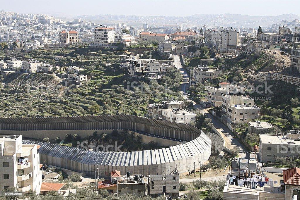 Bethlehem's Wall stock photo
