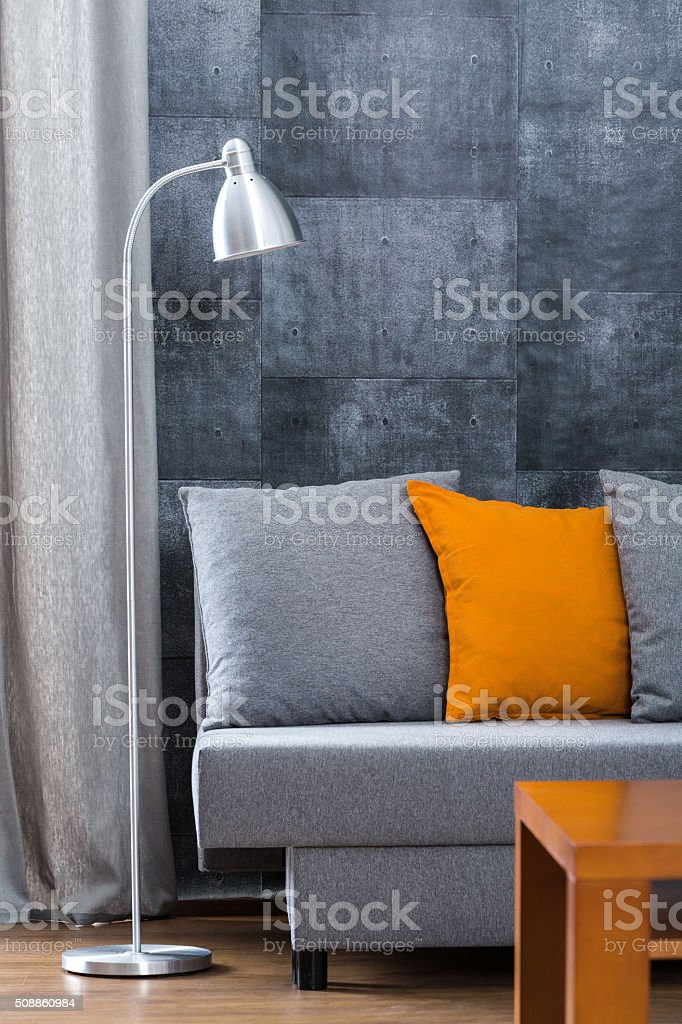 Beton wall in living room stock photo