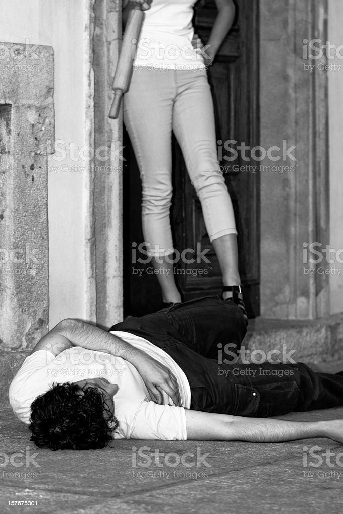 Betrayal Between A Young Couple - Italypse 2010 royalty-free stock photo