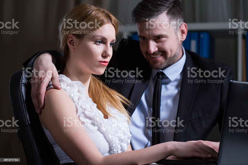 Betrayal in the workplace stock photo