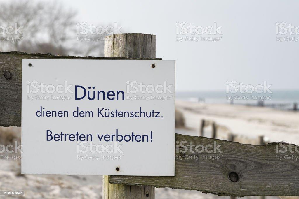 Betreten verboten stock photo