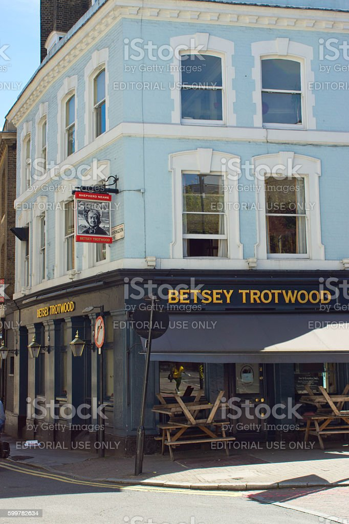 Betsey Trotwood pub stock photo