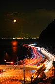 Betsudai national highway and night view