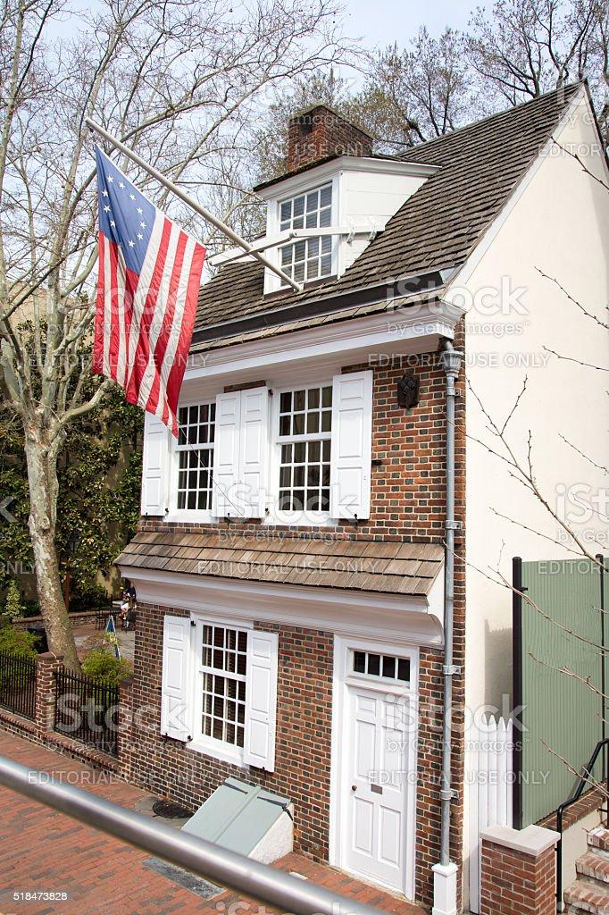 Betsy Ross House stock photo