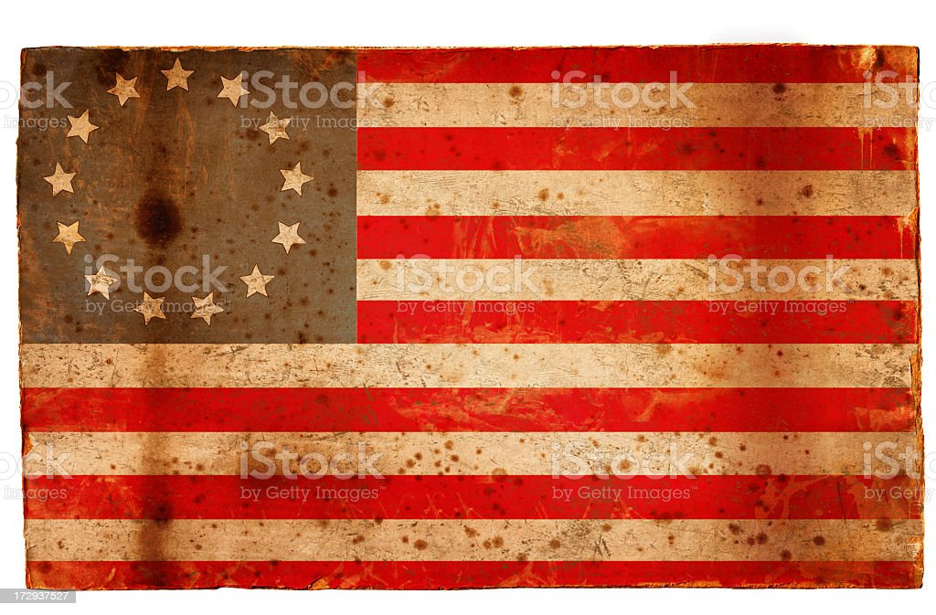Betsy Ross US Flag royalty-free stock photo