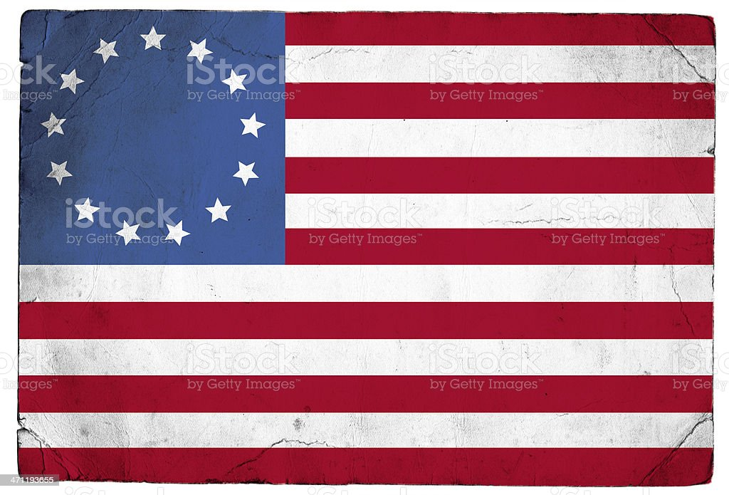 Betsy Ross US Flag stock photo
