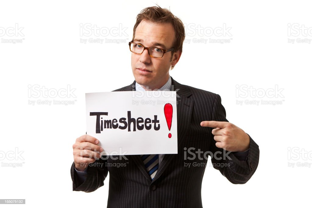 Better do your timesheet... royalty-free stock photo