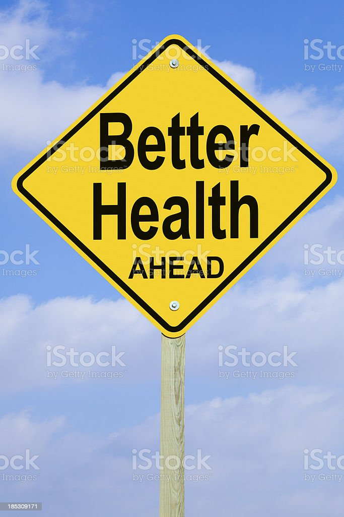 Better Health Ahead Road Sign stock photo