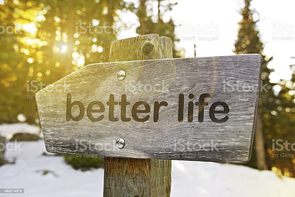 Better Life Trail royalty-free stock photo