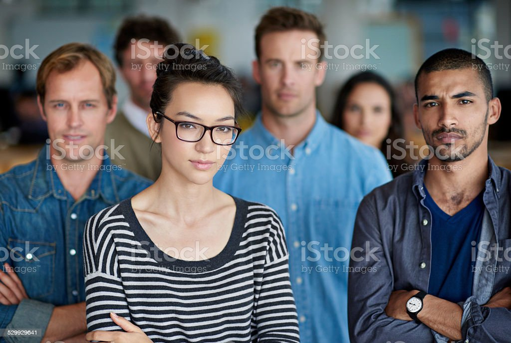 Better not take on this formidable team stock photo