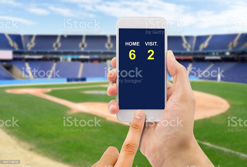 betting on baseball game stock photo