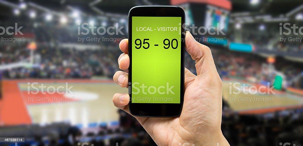 betting on basketball arena stock photo