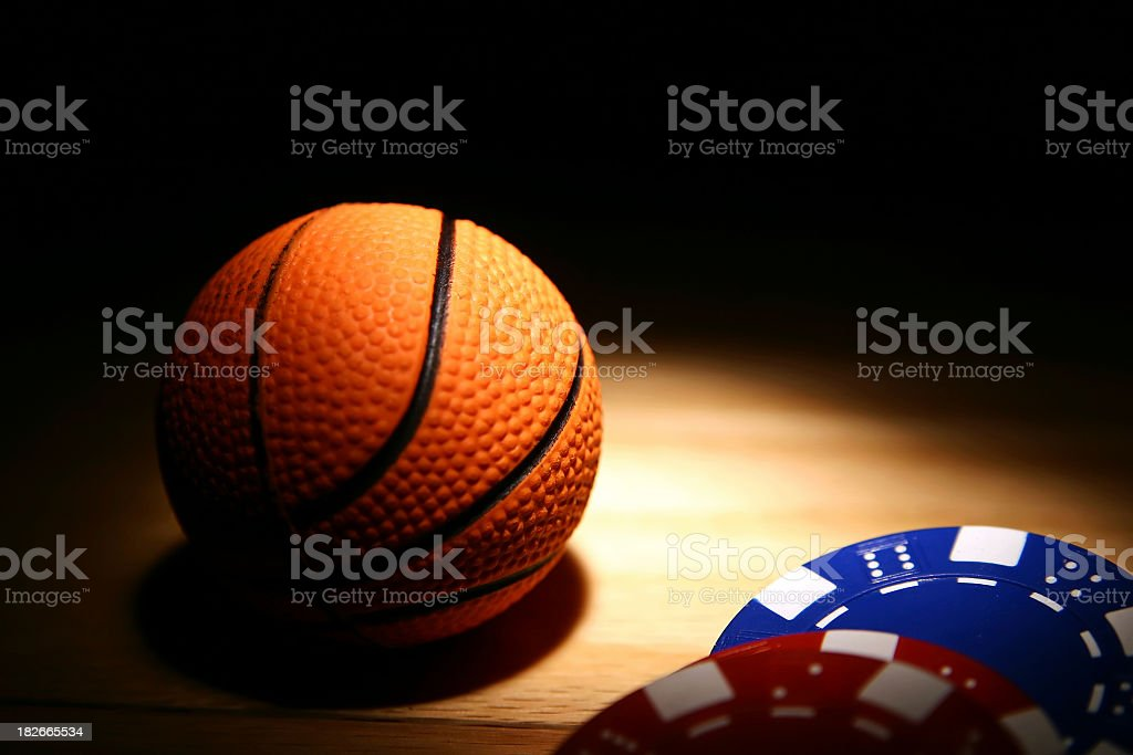 Betting on the Game stock photo
