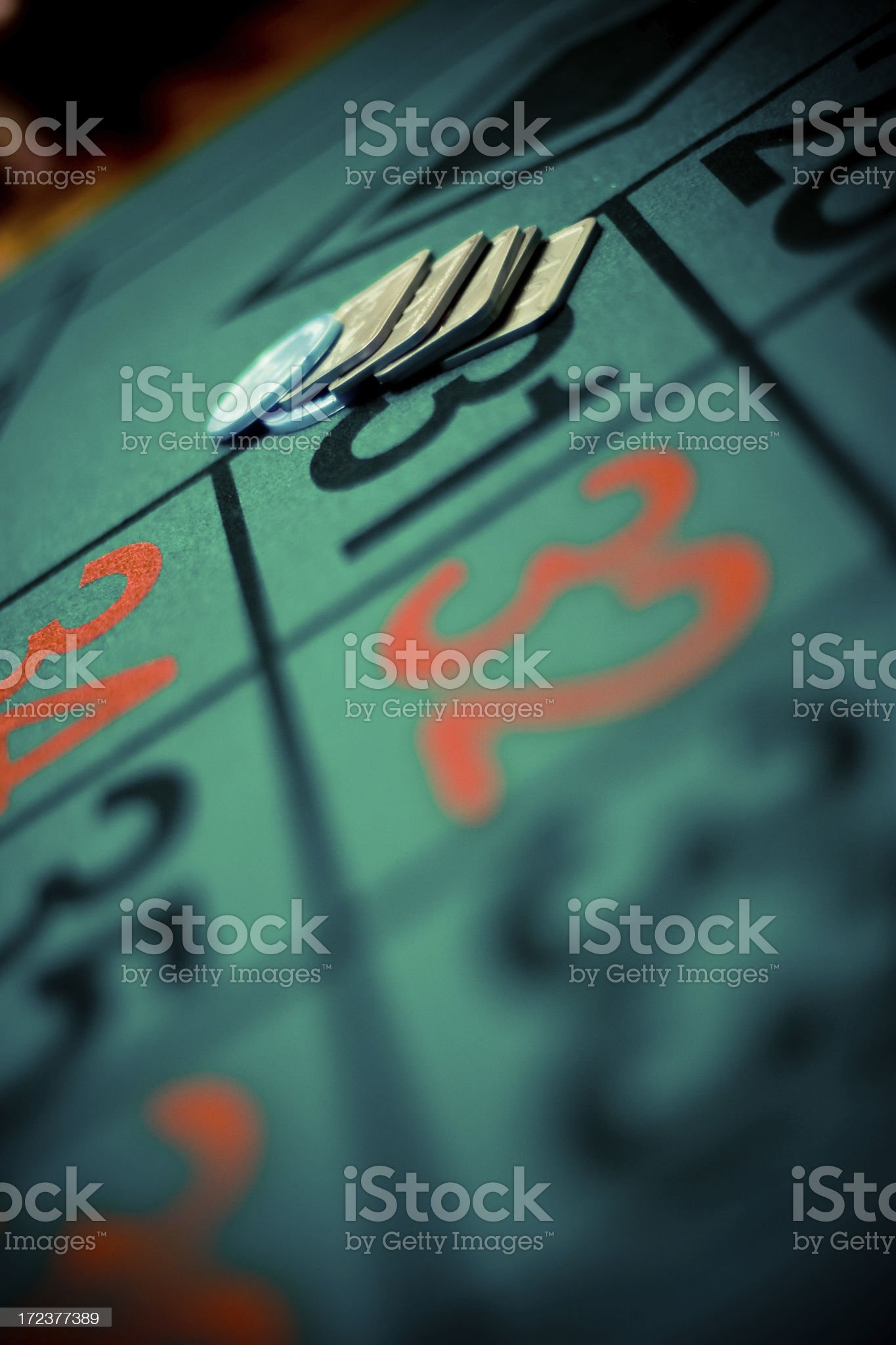 Betting on three numbers royalty-free stock photo