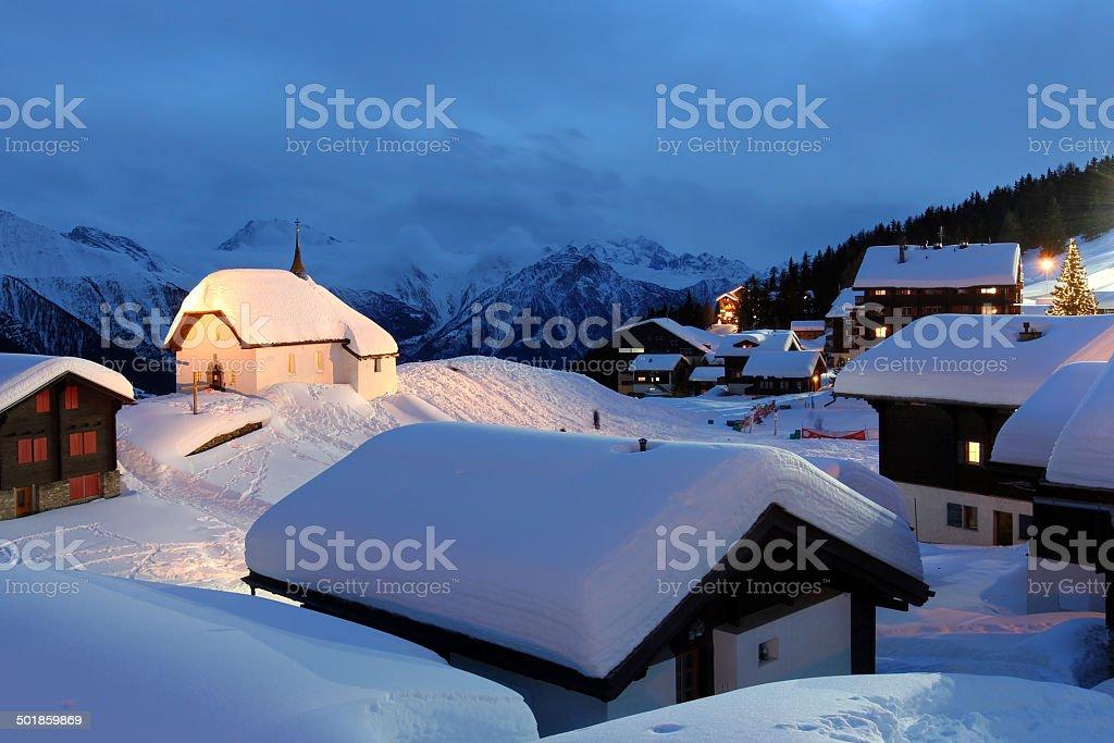 Bettmeralp, Switzerland stock photo