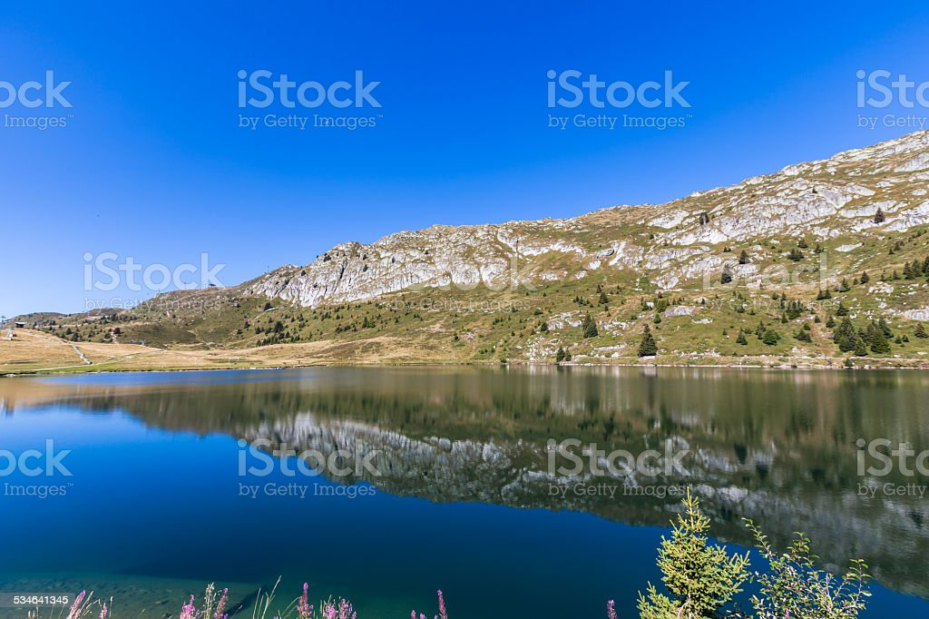 Bettmersee (Lake) in Valais stock photo