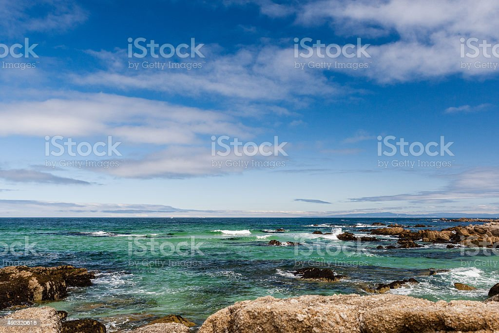 Between Bird Rock and Point Joe at 17 Mile Drive stock photo