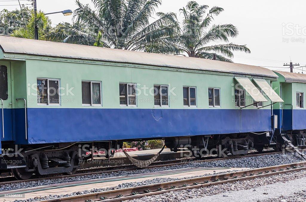 Between bogie of a Public Thai Train Railway stock photo