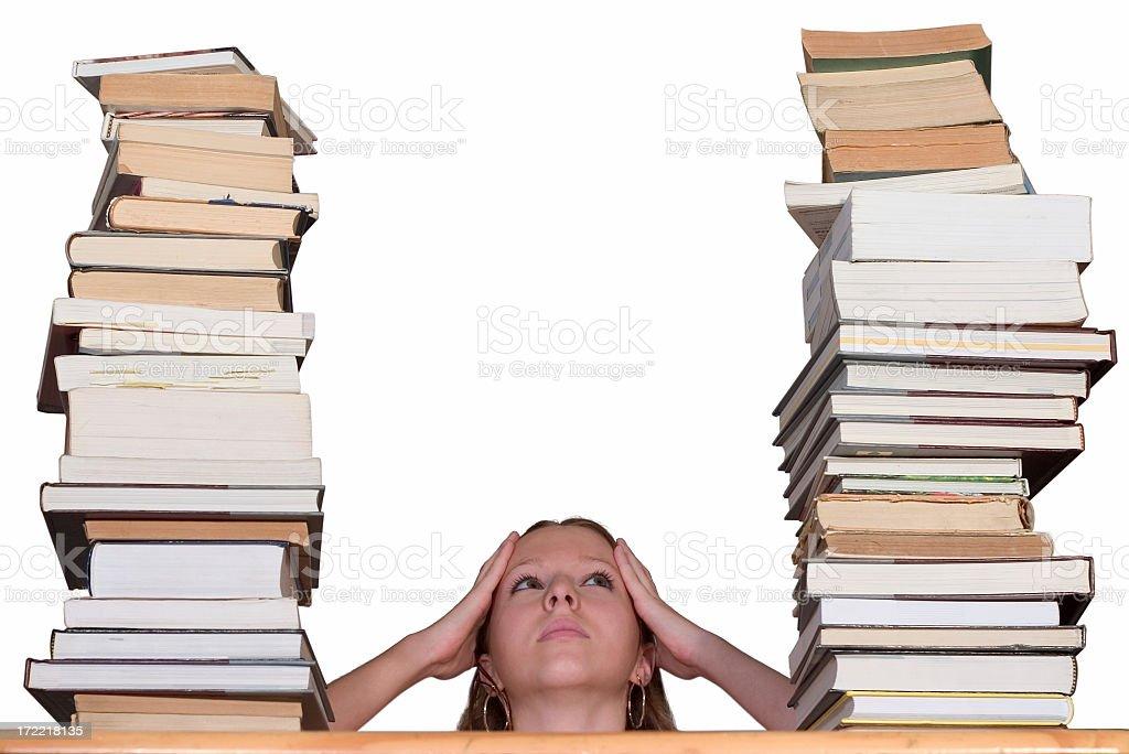 Between books stock photo