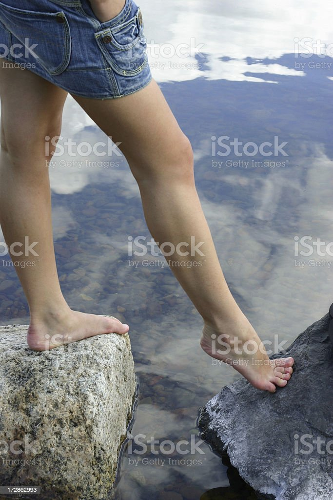 Between continents royalty-free stock photo