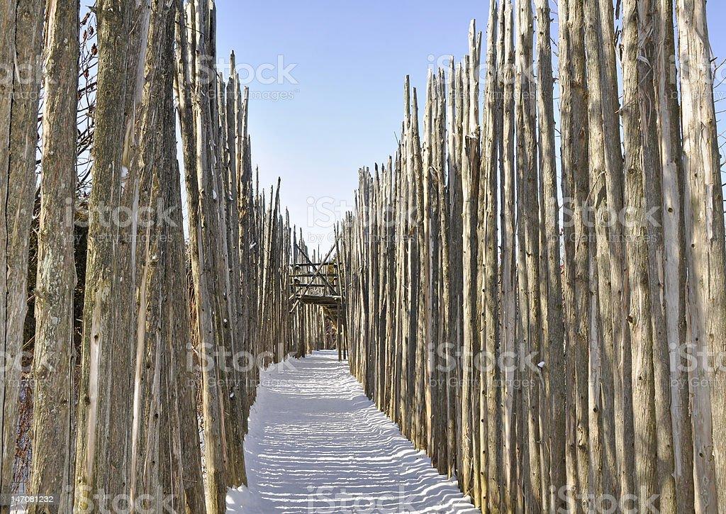 between palisades stock photo