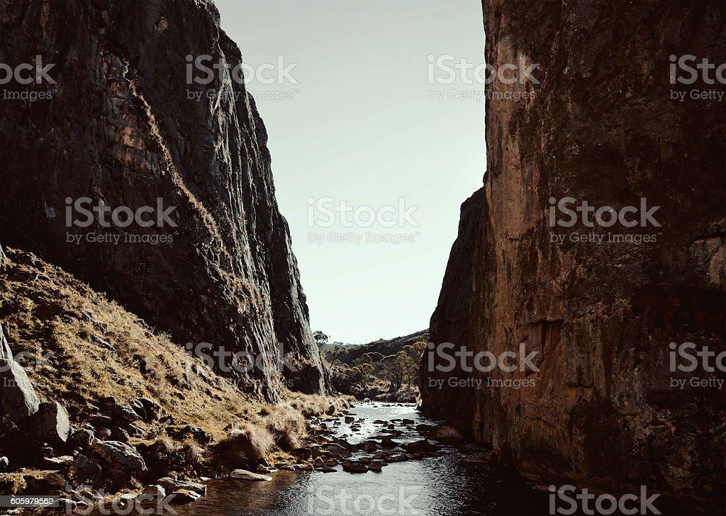 Between Rocks stock photo