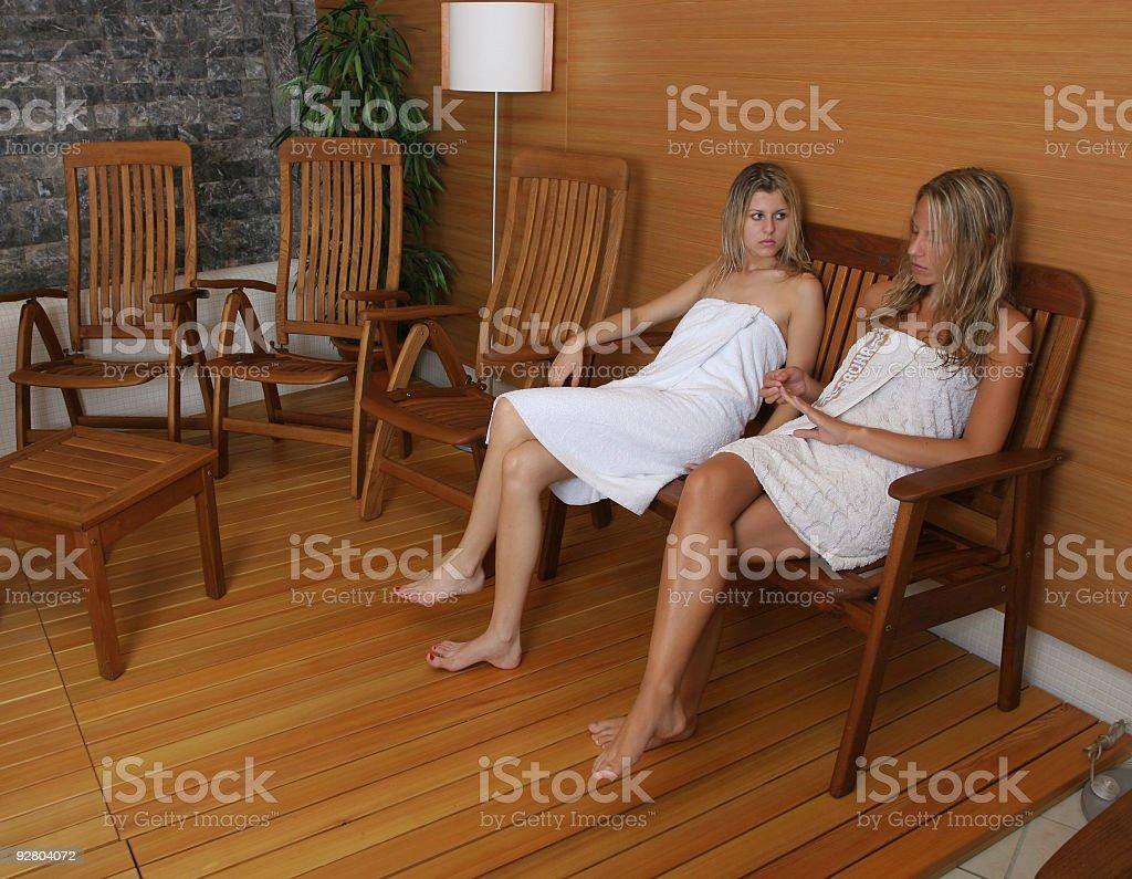 Between saunas royalty-free stock photo