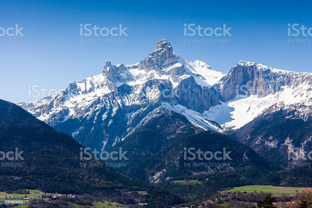 Between the cities Gap and Grenoble, France stock photo