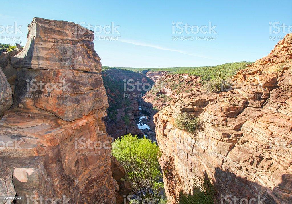 Between the Cliffs stock photo