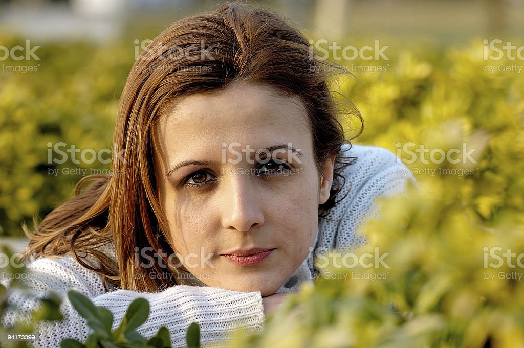 between the flowers royalty-free stock photo