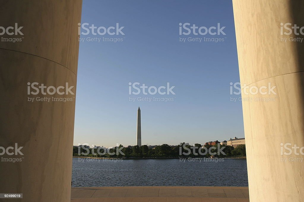 Between the Pillars royalty-free stock photo
