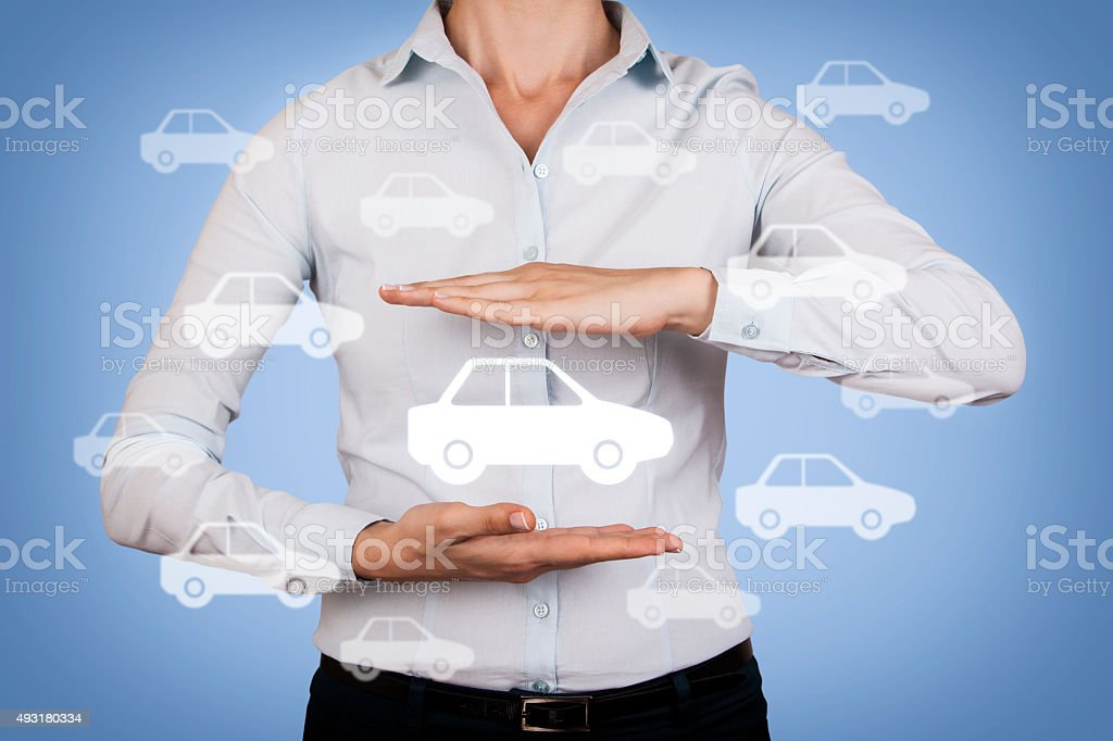 Between the Two Hands Car stock photo