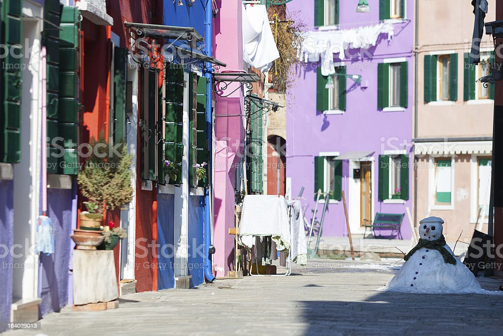 Between winter and spring, Burano island royalty-free stock photo