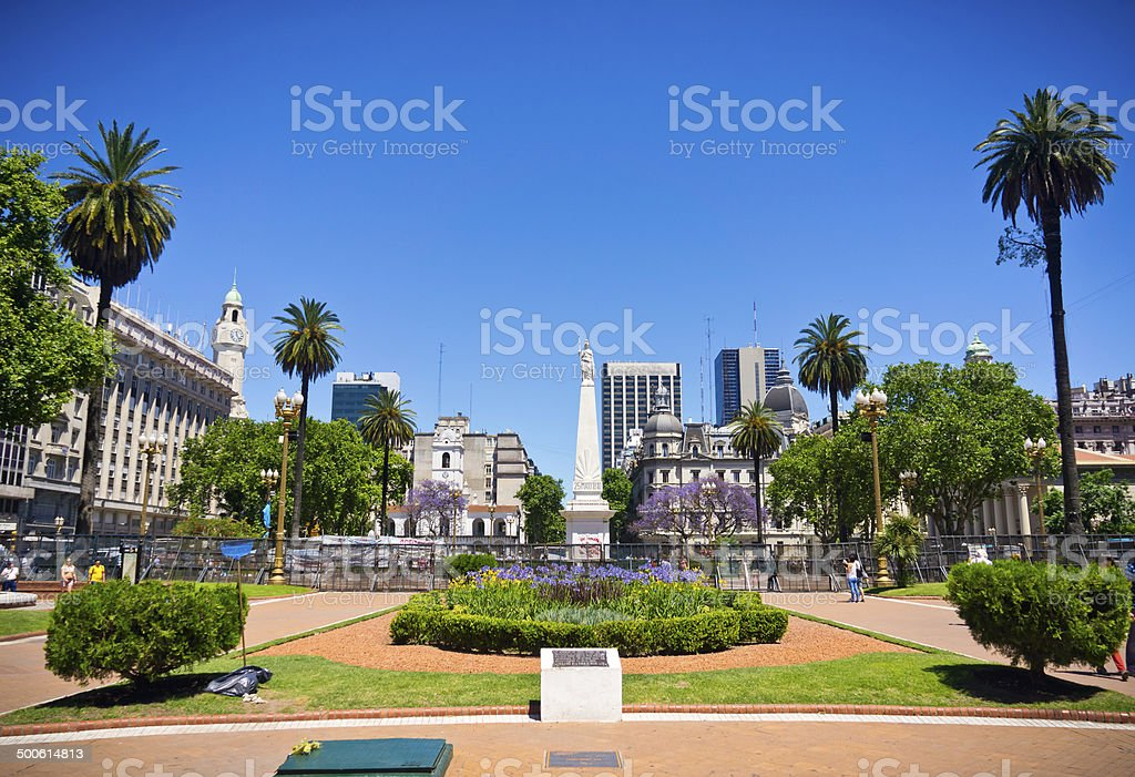 Beuatiful view Buenos Aires capital of Argentina stock photo