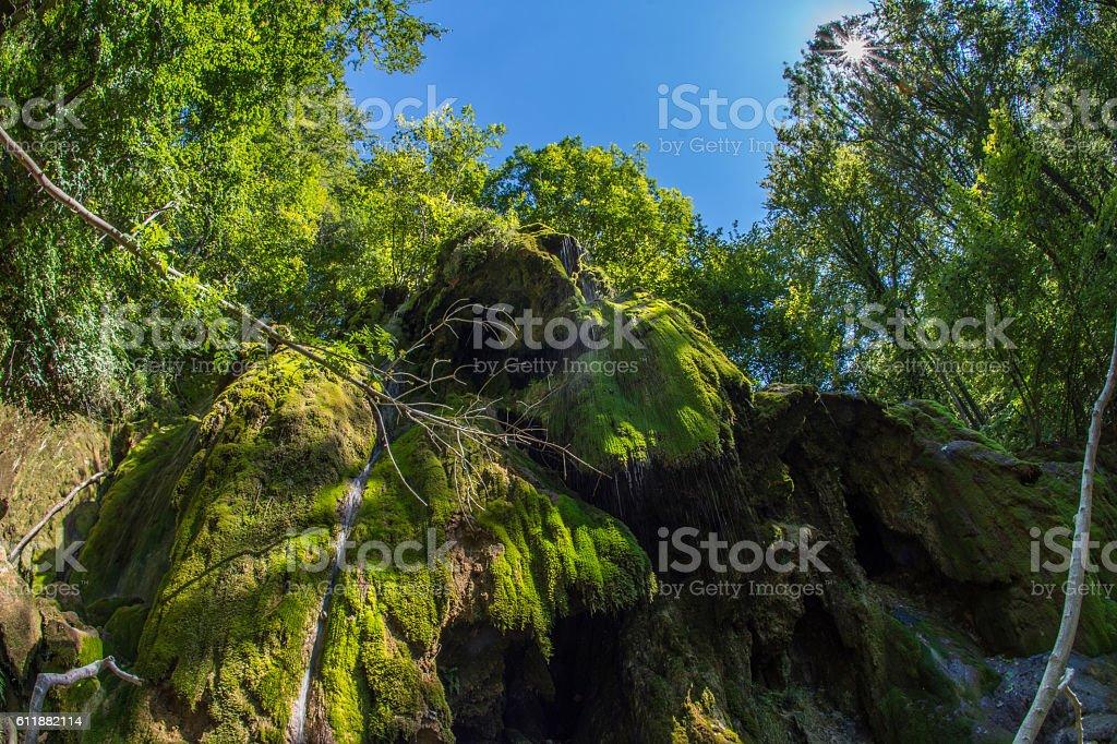 Beusnita waterfall in the Nera National Park, Romania stock photo