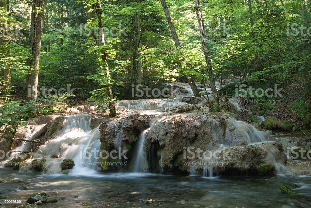 Beusnita waterfall stock photo