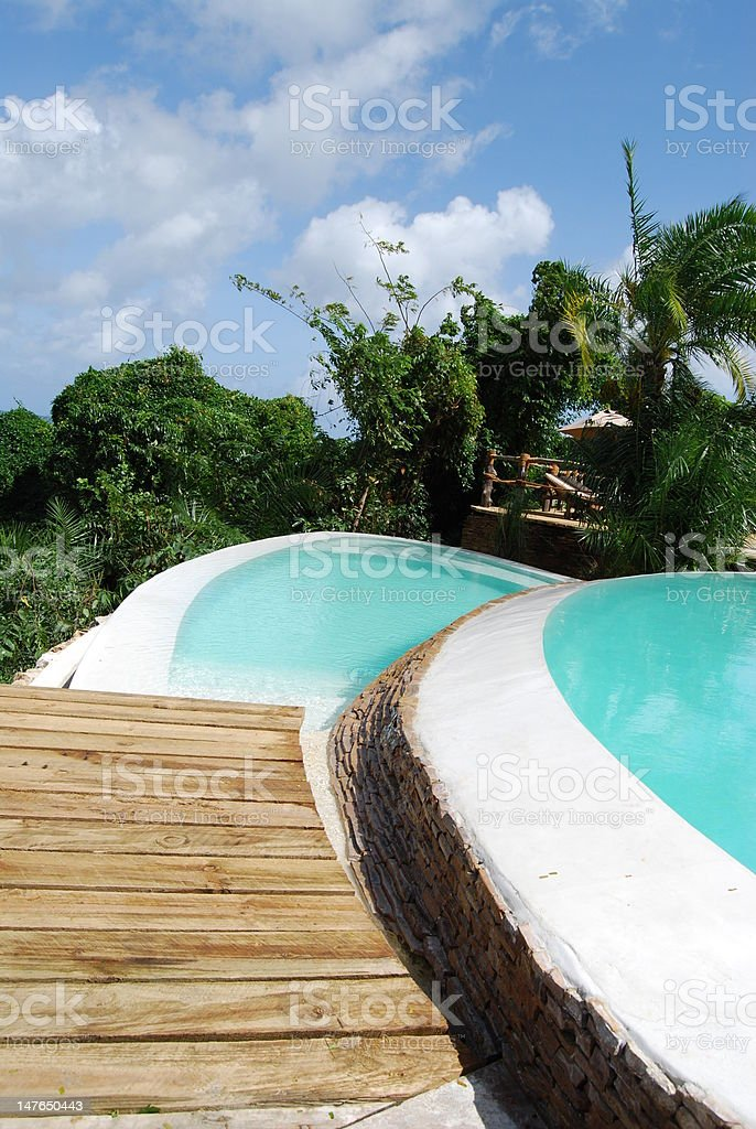 beutiful infinity pool stock photo