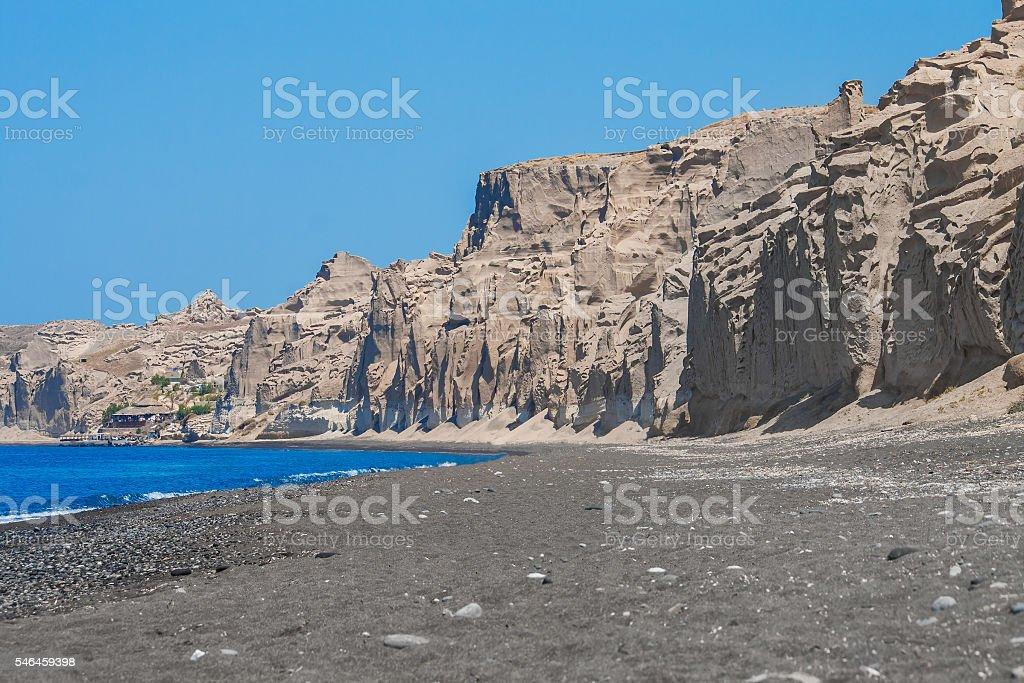 Beutiful Vlychada beach on Santorini. stock photo