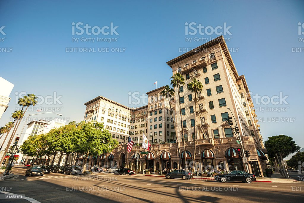 Bev Wilshire Hotel in Beverly Hills, California stock photo
