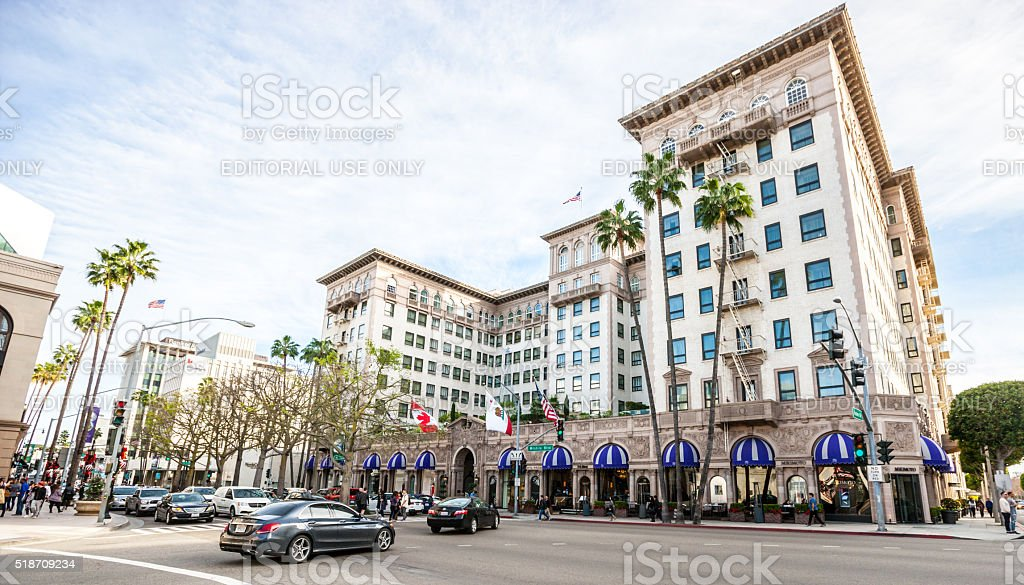 Bev Wilshire Hotel in Beverly Hills, California stock photo