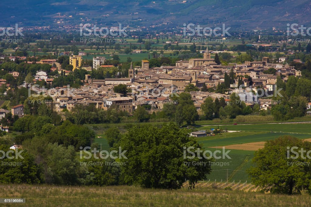Bevagna is one of the best village of Italy stock photo