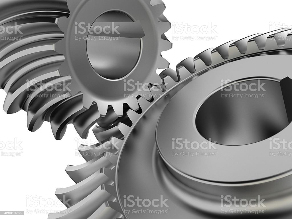 Bevel gears close up stock photo